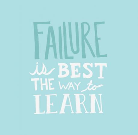 Esecul e cea mai buna cale de a invata
