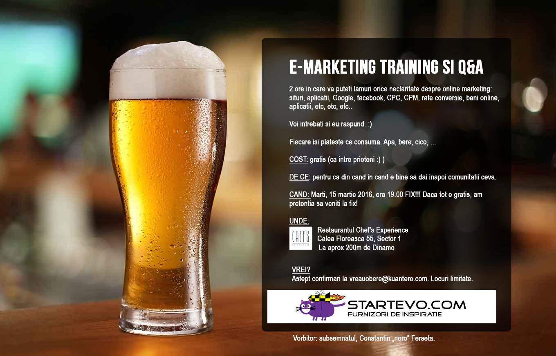 e-Marketing Training gratuit pentru prietenii StartEvo