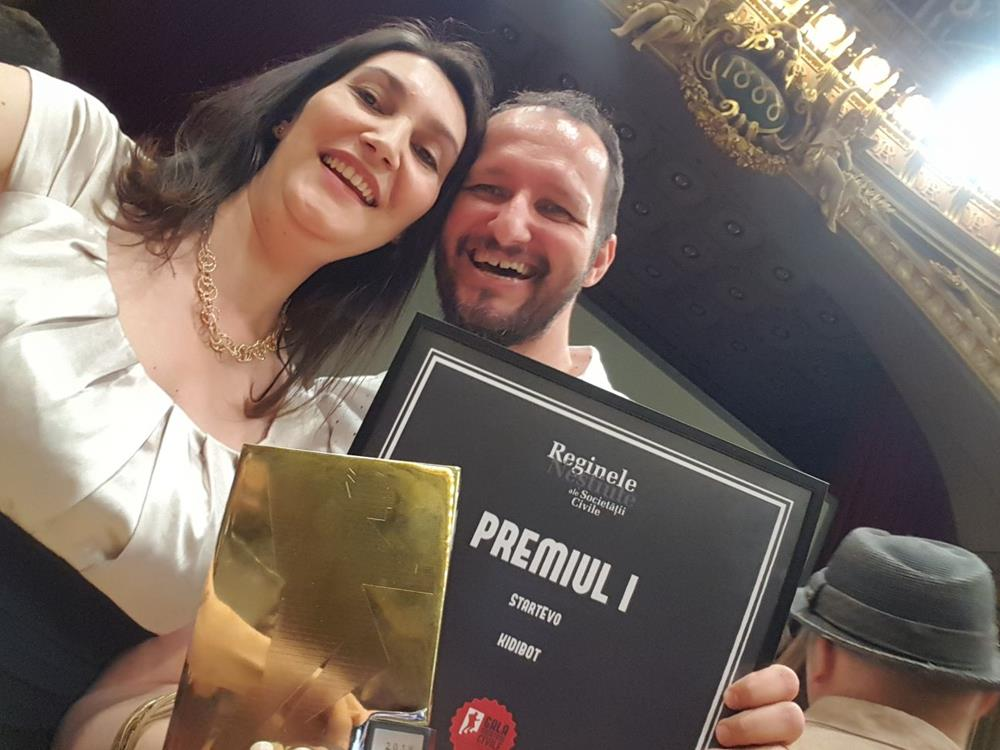 Kidibot a castigat aseara Locul #1 la Gala Societatii Civile 2018