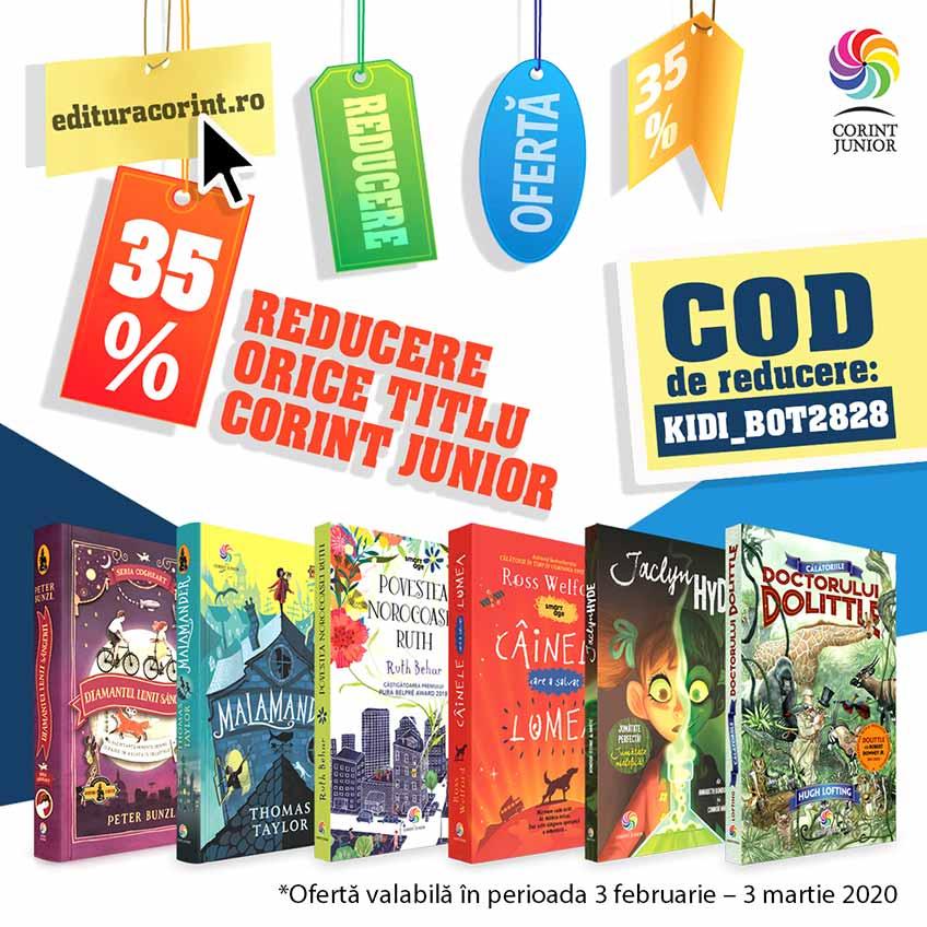 Reducere de 35% la cartile Editurii Corint Junior pentru fanii Kidibot